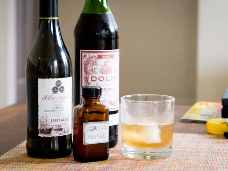 Adonis Cocktail Sherry Sweet Vermouth Orange Bitters