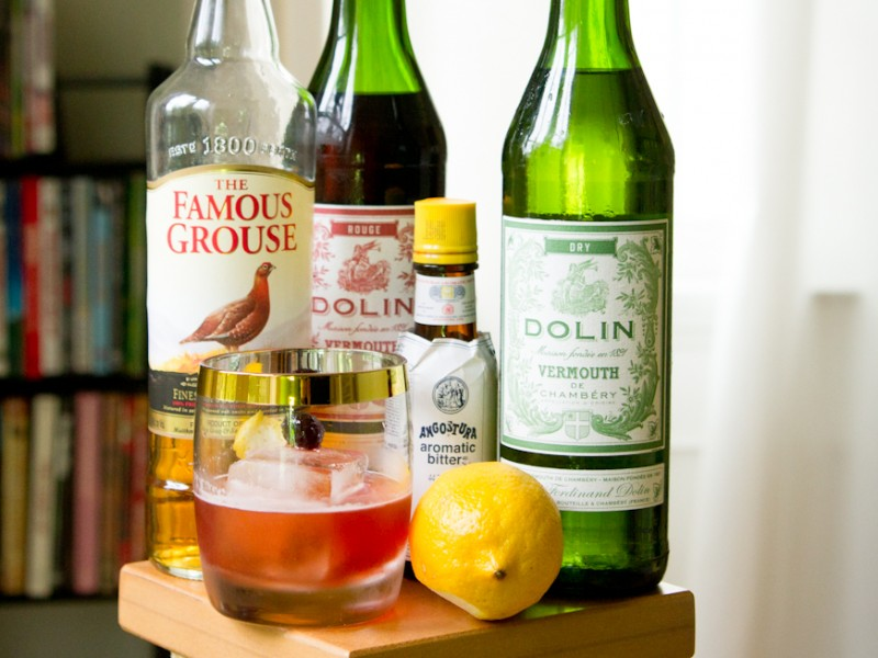 Affinity Cocktail Scotch Sweet Vermouth Dry Vermouth Angostura Bitters